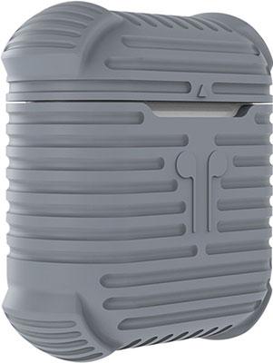 Чехол для наушников Eva Apple AirPods 1/2 с карабином - Серый (CBAP15GR)