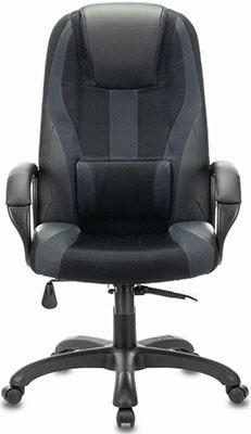Кресло Brabix PREMIUM ''Rapid GM-102'' НАГРУЗКА 180 кг экокожа/ткань черное/серое 532105 кресло компьютерное brabix premium rapid gm 102 нагрузка 180 кг экокожа ткань черное красное 532107