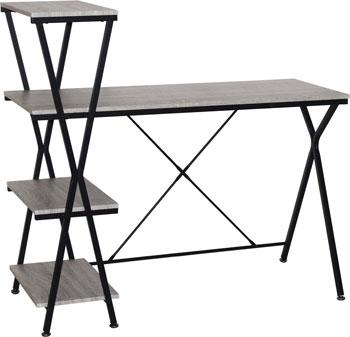 Стол на металлокаркасе Brabix LOFT CD-004 (ш1200*г535*в1110мм) 3 полки цвет дуб антик 641219 стеллаж brabix loft sh 003 ш600 г350 в1500мм 5 полок цвет дуб антик 641235