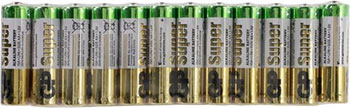 Батарейка алкалиновая GP АА (LR6) Super Alkaline в комплекте 60 шт. 15A-2CRVS60 720 aa батарейка gp super alkaline 15a lr6 10 шт