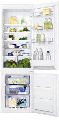 Встраиваемый двухкамерный холодильник Zanussi ZBB 928651 S