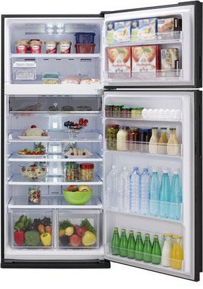 Двухкамерный холодильник Sharp SJ-XE 59 PMBK черный фото