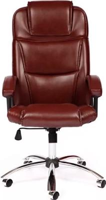 Офисное кресло Tetchair BERGAMO (хром) (кож/зам коричневый 2 TONE) кресло офисное руководителя tetchair ch 9944 пластик доступные цвета обивки искусств коричневая кожа