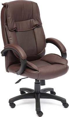 Кресло Tetchair OREON (кож/зам коричневый/коричневый перфорированный 36-36/36-36/06) фото