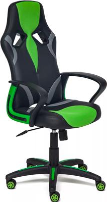 Кресло Tetchair RUNNER (кож/зам/ткань черный/зеленый 36-6/tw 26/tw-12) кресло tetchair runner кож зам ткань черный зеленый 36 6 26 12