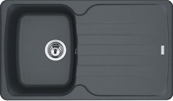 Кухонная мойка FRANKE Antea AZG 611-86 графит вентиль 114.0489.275 цены