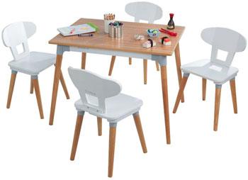Набор детской мебели KidKraft Mid Century: стол 4 стула недорого