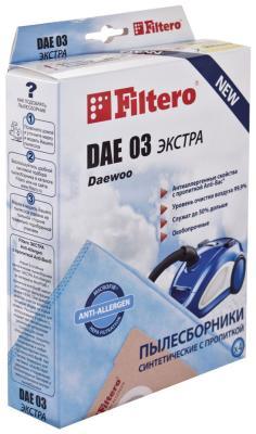 Набор пылесборников Filtero DAE 03 (4) Экстра Anti-Allergen пылесборники filtero dae 03 standard двухслойные 5шт
