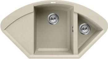 Кухонная мойка Elleci EASY CORNER granitek (62) Bianco Antico LGYCOR 62 цена