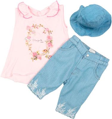 Комплект одежды Bebetto шорты футболка панама Рт.92 Розовый