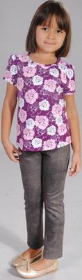 Блуза Fleur de Vie 24-2192 рост 140 фиолетовая брюки fleur de vie 24 2181 рост 140 бежевые