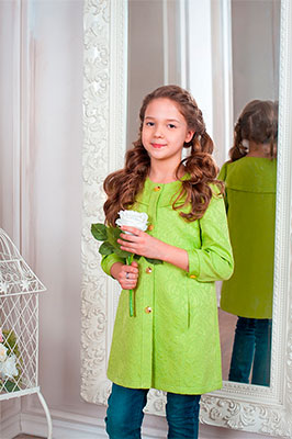 Плащ Стильные непоседы 316 (зеленый) размер 32-128 угги для девочки аллигаша цвет черный 12 281 размер 32 31