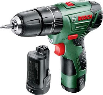 Дрель Bosch EasyImpact 12 2 АКБ 060398390 E краскораспылитель bosch pfs 5000 e 0603207200