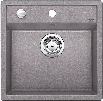 Кухонная мойка BLANCO DALAGO 5-F SILGRANIT алюметаллик с клапаном-автоматом кухонная мойка blanco dalago 5 f silgranit кофе с клапаном автоматом