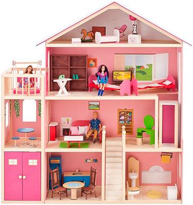 Кукольный дом для Барби Paremo PD 316-02 Мечта (28 предметов мебели лифт лестница гараж балкон качели