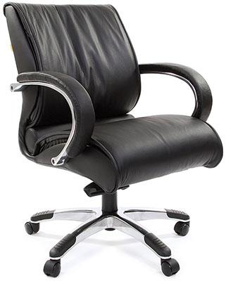 Офисное кресло Chairman 444 WD кожа черная