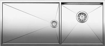 Кухонная мойка Blanco ZEROX 400/550-Т-U (чаша справа) нерж. сталь зеркальная полировка без клапана авт 521606 кухонная мойка blanco zerox 400 400 u нерж сталь зеркальная полировка без клапана авт 521620