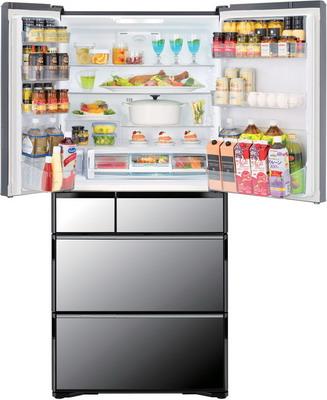 Многокамерный холодильник Hitachi R-X 690 GU X зеркальный