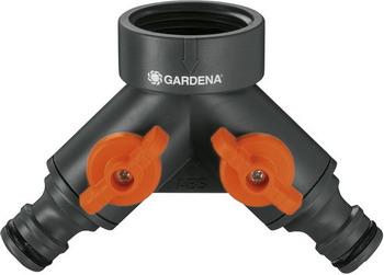 Распределитель Gardena 2-х канальный 3/4'' 00938-20 подводка дождевателя gardena 3 4 х 1 2 02739 20 000 00