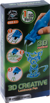 цена 3D-ручка 3D Making светящиеся чернила цвет синий 1CSC 20003389 онлайн в 2017 году