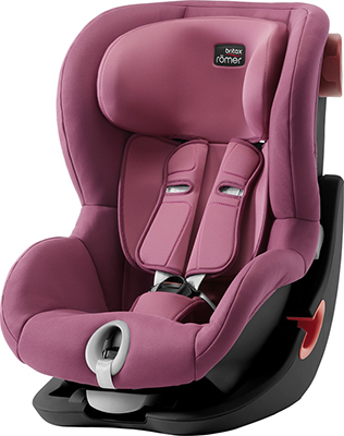 Автокресло Britax Roemer King II Black Series Wine Rose Trendline 2000027561