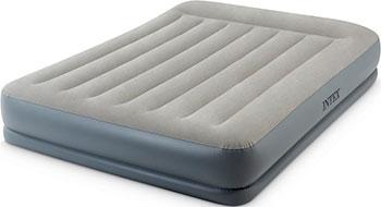 Кровать надувная Intex Mid-Rice Airbed 152х203х30 встроенный насос 220 V 64118 цена