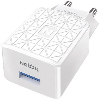 Сетевое зарядное устройство Nobby Practic 1USB 1.2А NBP-TC-12-02 белый