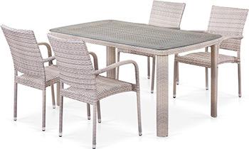 Комплект мебели Афина T 51 A/Y 376-W 85-150 x 85 4Pcs Latte