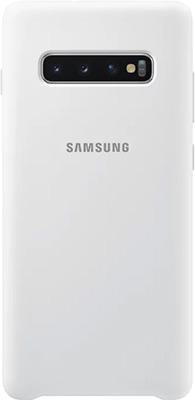 Чехол (клип-кейс) Samsung S 10+ (G 975) SiliconeCover white EF-PG 975 TWEGRU