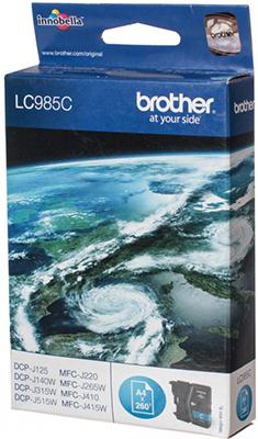 Картридж Brother LC 985 C голубой картридж mak© tk 130 черный для лазерного принтера