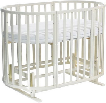 Детская кроватка Everflo Allure 7 в 1 с маятником ivory ES-008 ПП100004167