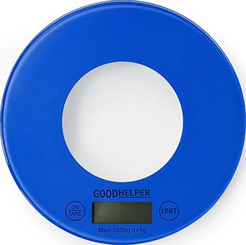 Кухонные весы GoodHelper KS-S03 голубые цена и фото