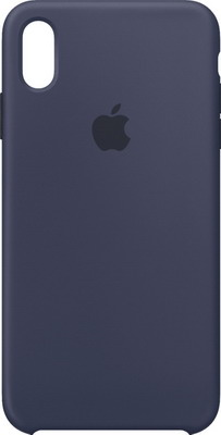Чехол (клип-кейс) Apple Silicone Case для iPhone XS Max цвет (Midnight Blue) тёмно-синий MRWG2ZM/A цена