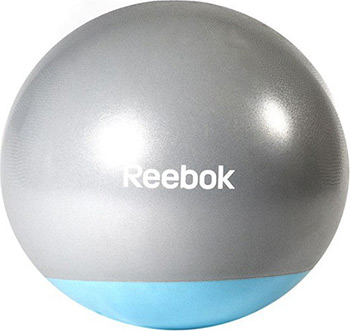 Мяч гимнастический Reebok серо-голубой 65 см RAB-40016BL мяч гимнастический фитбол semolina 2334 цвет синий