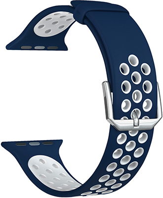 Ремешок для часов Lyambda для Apple Watch 38/40 mm ALIOTH DS-APS01-21-40-BW Blue/White цена и фото