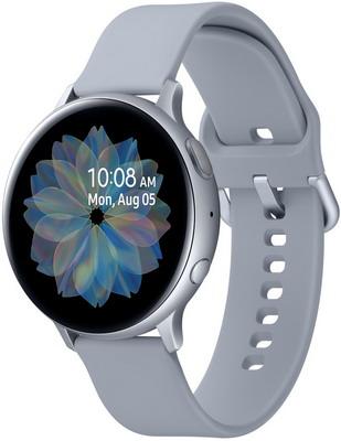 Часы Samsung Galaxy Watch Active2 SM-R820N алюминий 44 мм серебристый умные часы c gps samsung galaxy watch active2 алюминий 44 мм ваниль