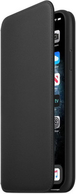 Чехол (флип-кейс) Apple iPhone 11 Pro Max Leather Folio - Black MX082ZM/A цены