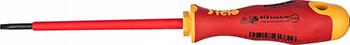 Диэлектрическая отвертка Felo Ergonic плоская шлицевая 3 5X0 8X100 41303890 отвертка felo ergonic плоская шлицевая 5 5x1 0x150 40055510
