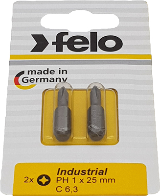 Бита крестовая Felo PH 1X25 серия Industrial 02201036