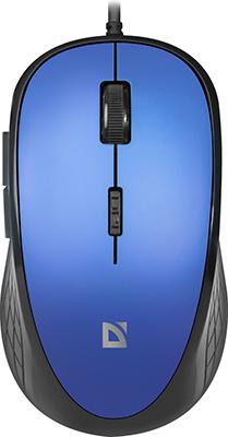 Проводная мышь Defender Accura MM-520 оптика 6 кнопок 1600dpi синий (52520)