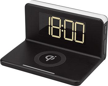 Часы с беспроводной зарядкой MAX, M-010 чёрные, Китай  - купить со скидкой