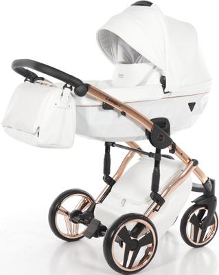 коляски 2 в 1 Коляска детская 2 в 1 Junama INDIVIDUAL JDI-06 (белый/медная рама)