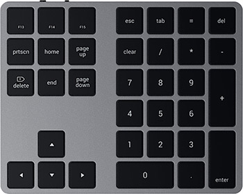 Клавиатура Satechi Aluminum Extended Keypad серый космос (ST-XLABKM)