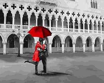 Картина по номерам Цветной Черно-красное свидание (40 х 50) на подрамнике gx31606