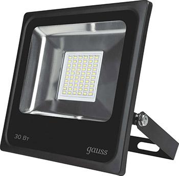 Прожектор светодиодный GAUSS Elementary 30W 2100lm IP65 6500К черный 613100330