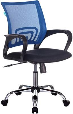 Кресло Бюрократ CH-695NSL синий TW-05 сиденье черный TW-11 крестовина металл хром