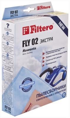 Набор пылесборников Filtero FLY 02 (4) ЭКСТРА Anti-Allergen filtero sam 01 4 экстра anti allergen
