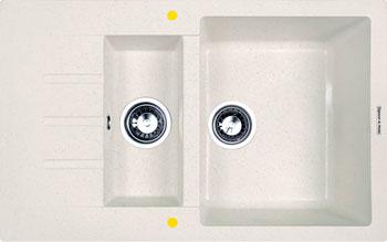 Кухонная мойка Zigmund & Shtain RECHTECK 775.2 каменная соль