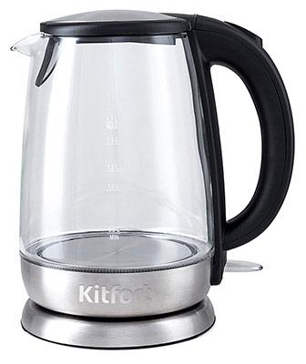 купить Чайник электрический Kitfort КТ-619 по цене 1490 рублей