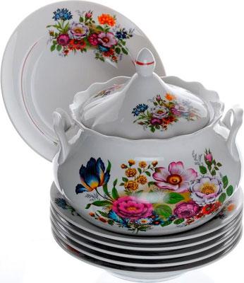 Набор для супа Добрушский фарфор ''Букет цветов'' 10 пр. 2С0304 набор для супа добрушский фарфор пион 10 пр 2с0150